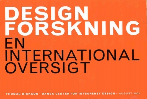 Cover of DESIGNFORSKNING